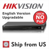 16CH NVR DS-7616NI-E1  6MP 1-SATA 1U NO POE HIKVISION OEM MS-8816NI-E1 UL LISTED NOHDD