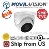 5MP TVI Turret Cam Motorized Len 2.8~12mm Movil-Vision UL LISTED TVI-5556EI40Z