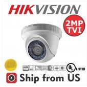 2MP Dome Camera 4in1 TVI/AHD/CVI/CVBS 2.8mm 20m IR Hikvision OEM UL LISTED