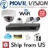 Kit Full HD 4CH 1080P NVR with 2 Bullet Cam 2MP & 2 Dome Cam 2MP