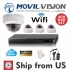 4CH NVR Hikvision OEM Kit Wireless or Wired HD 1080P 2 MP IP Dome Camera NOHDD MS-KTNVR8804