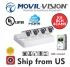 Kit 8CH DVR 4IN1, 4 Camera 2MP Bullet 2.8mm 20m IR,1TB HDD MV2A841 MOVIL-VISION