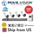 Kit 8CH DVR 5MP, 4 Camera 3MP Lens 2.8mm,1TB HDD MOVIL-VISION