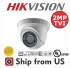 2MP Dome Camera 4in1 TVI/AHD/CVI/CVBS 2.8mm 20m IR Hikvision OEM UL LISTED